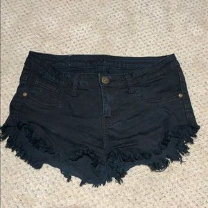 Machine Black jean shorts